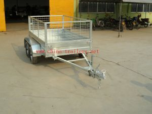 Galvanized Box Trailer with Cage Tr0302 pictures & photos