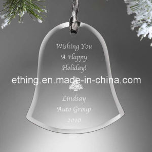Personalized Bell Glass Promotional Gift for Holiday Decoration pictures & photos