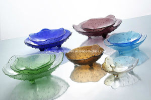 Machine Made Solid Color Glass Plate with Cheap Price (P-34) pictures & photos
