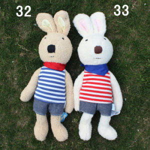 Free Shipping Stuffed and Plush Rabbits Toy for Lovers and Children Gifts, 32cm, 2PCS/Lot