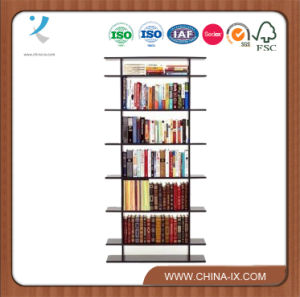 Floor Standing Wooden Book Shelf with 7 Shelves pictures & photos