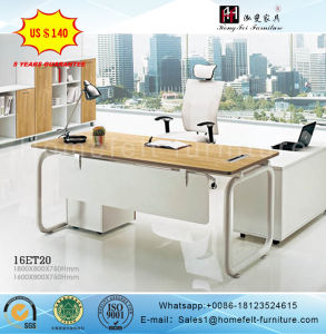Metal Leg Wooden Table Top Office Boss Furniture Table Executive Desk