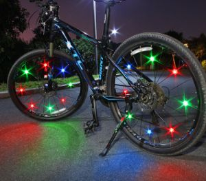 New Red Colorful Hot Wheels Bicycle Lamp Spoke LED Mountain bike lights WR#101