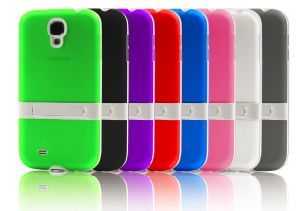 TPU Case with Stand for Samsung S4 I9500 (KT-16008)