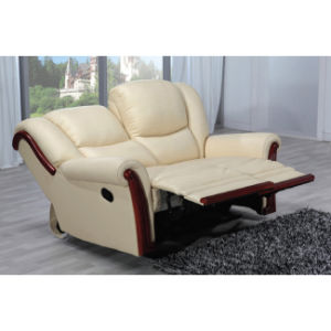 Wood Trim Leather Recliner Sofa Set Mz002 pictures & photos