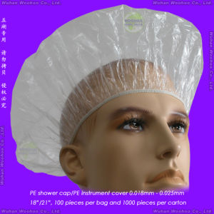 Disposable Polyethylene Shower Cap pictures & photos