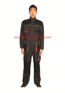 Hot Sale Cheap Canvas Grey Black Mens Working Coverall Suit with Knee Pad pictures & photos