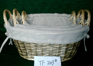 Wicker Basket with Fabric Lining (TF203)