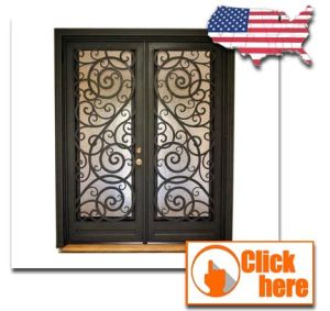 Luxury Wrought Iron Decorative Entry Grill Door Designs pictures & photos