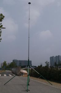 Winch up Mast Telescopic Antenna Towers Guyed Tower 6 Meter 9 Meter 15  Meter with Tripod