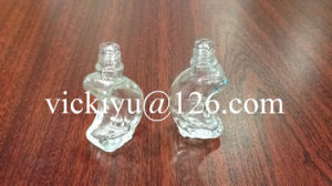 Crescent-Shaped Small Glass Bottles for Essential Balm, Essential Oil