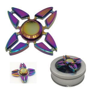 Colorful Rainbow Crab Pliers Style 4 Leaves Metal Fidget Finger Spinner Toys Hand Fingertip Spinner Gyro EDC Handspinner Desk