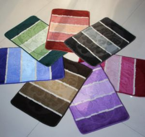 PP Jacquard Bath Rugs, with Simple Designs, SMD-03