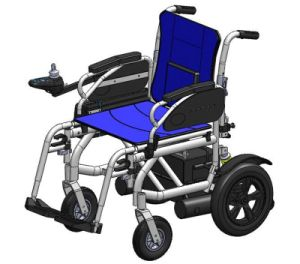 Ce Al Frame Foldable Electric Power Wheelchair with Solid Rear Tire and Suspenstion pictures & photos