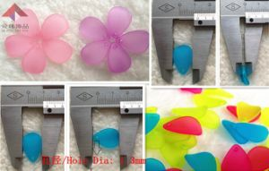 Fashion Jewelry, Transparent Frosted Petals