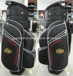 High Quality PU Golf Cart Bag with Raincover, Pink Golf Bag Promotion pictures & photos