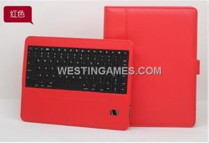 Wireless Bluetooth Keyboard Leather Case with Stand Detachable for New iPad 3 /iPad 2 - Red