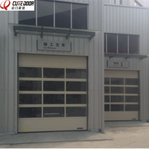 High Quality Industrial Aluminum Frame Glazed Panel Perspective Sliding Door