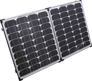 120W Folding Solar Panel for Camping with 4WD SUV pictures & photos