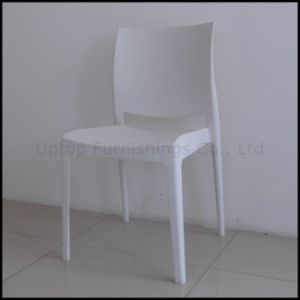 china white stacking plastic cafe resin chair for wholesale sp