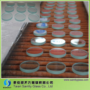 Round Tempered Clear Float Glass