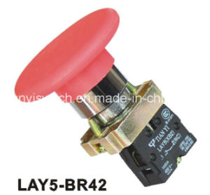 Lay5-Br42 Mushroom Head Spring Return Emergency Stop Pushbutton Switch pictures & photos
