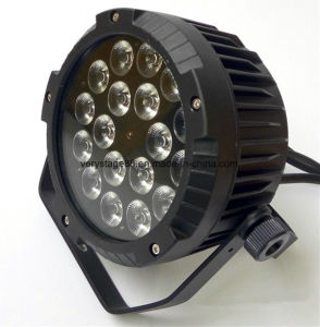 New RGBW 4in1 Slim PAR LED 18X10 IP65 LED Flat PAR pictures & photos