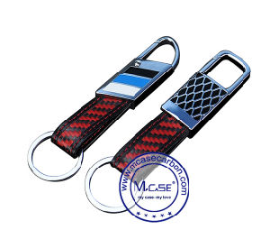 Original Western Fashion Design Metal Carbon Fiber Decoration Accessory Type Metal Small Key Chain pictures & photos