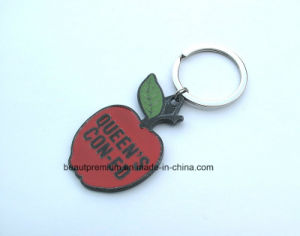 Popular Promotion Gift Apple Shape Plastic Key Chain BPS0178