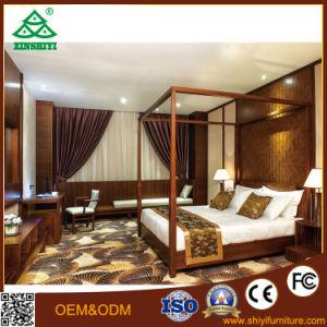 Walnut Hotel Bedroom Furniture Customized Wooden Queen Bedroom Furniture