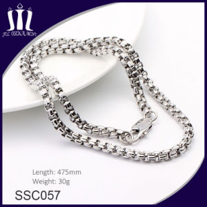 Simple Design Custom Couple Stainless Steel Color Chain Necklace pictures & photos