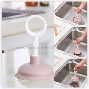 Kitchen Bathroom Sink Plunger Mini Easy for Storage 16.4*10.6cm