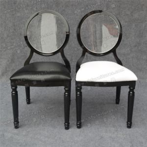 Black Stackable Louis Ghost Chair with Acrylic Transparent Back Seat Cushion (YC-D87) pictures & photos