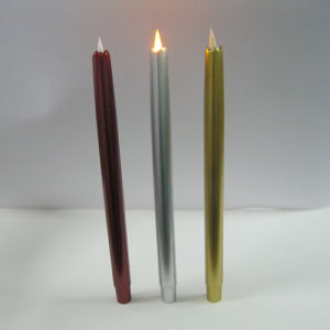 Elegant Electroplate Recycling Fire Safe Luminary Battery Operated Bar LED Taper Candle pictures & photos