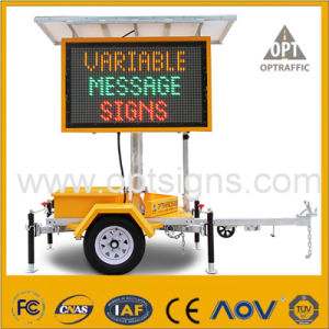 Solar Power Remote Control Portable Advertising Trailer LED Display pictures & photos