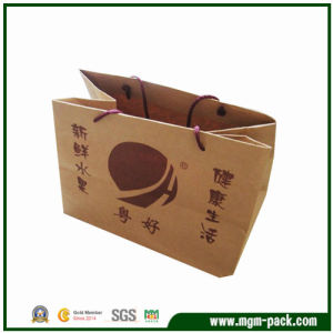 High Quality Durable Brown Paper Gift Handbag for Packing pictures & photos