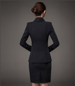 Made to Measure Fashion Stylish Office Lady Formal Suit Slim Fit Pencil Pants Pencil Skirt Suit L51619 pictures & photos