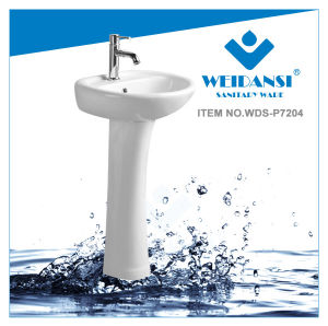 Weidansi Ceramic Wash Pedestal Basin Wash Sink (WDS-P7204)