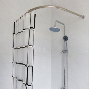 China Stainless Steel Adjustable Shower Curtain Rod Holder