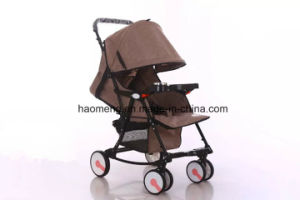 Flax Folding Baby Stroller with Basket