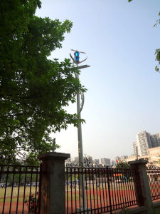 400W Vertical Axis Wind Generator for Camera System with 24V Battery pictures & photos