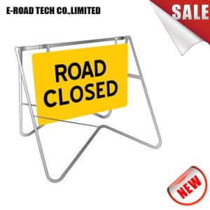 3m Sign and Standroad Closed Traffic Swing Metal Sign