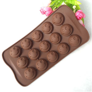 Smile Face Shape Silicone Chocolate Bar Mould