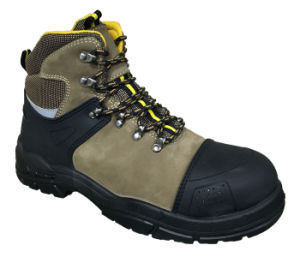 New Designed TPU + Nubuck Leather Safety Shoes (WS6006) pictures & photos