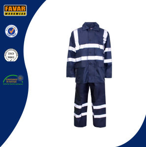High Visibility Waterproof Coverall Workwear Rain Coat/ Traffic Police Rain Coat
