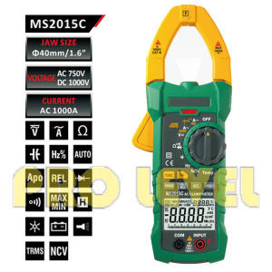 Trms & Ncv Digital AC Clamp Meter (MS2015C) pictures & photos