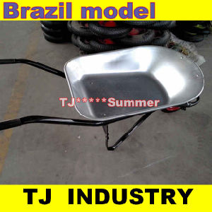 Powder Coated or Galvanized Wheel Barrow for Brazil Market pictures & photos