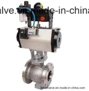 Pneumatic Adjustment Stainless Steel Ball Valve/Hb2810-16c