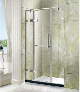 Hotel Bathroom Stainless Steel 304 Tempered Glass Hinged Shower Enclosure