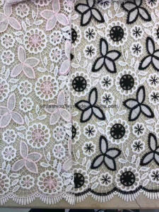 Hot Sell Double Colors 100% Polyester Lace Fabric Garment Accessorie for Dress 0013 pictures & photos